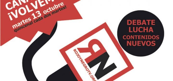 Vuelve Rojo y Negro TV el 13 de Octubre